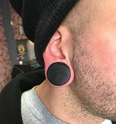 Yanni Piercing Black Plug Wood