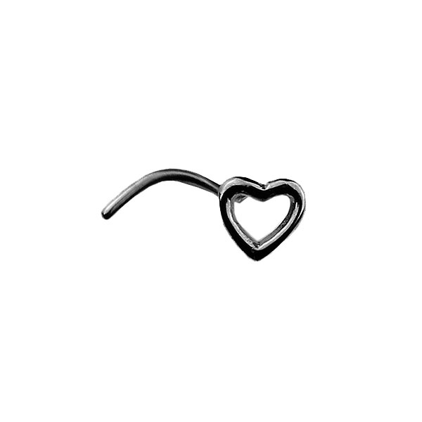 nostril corazon heart yanni piercing